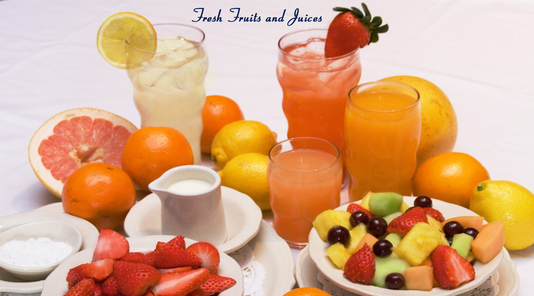 FRESH FRUITS AND JUICES